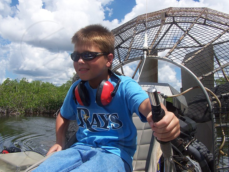 Danny airboat photo