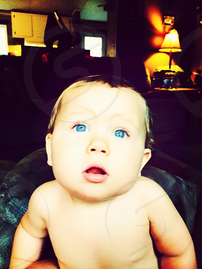 My blue eyed baby  photo
