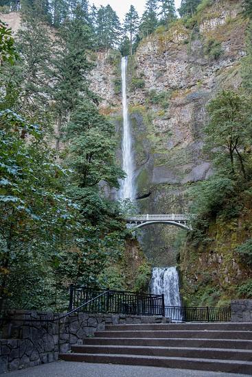 Multnomah Falls Columbia gorge Portland northwest waterfall Oregon photo
