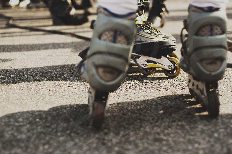Rollers on streets photo