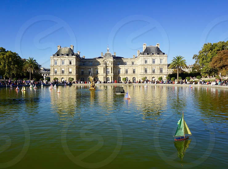 Boating Lake in Summer Palace of Versailles France photo