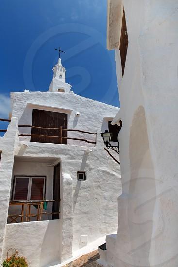 Binibequer Vell in Menorca Binibeca white village Sant Lluis at Balearic Islands photo