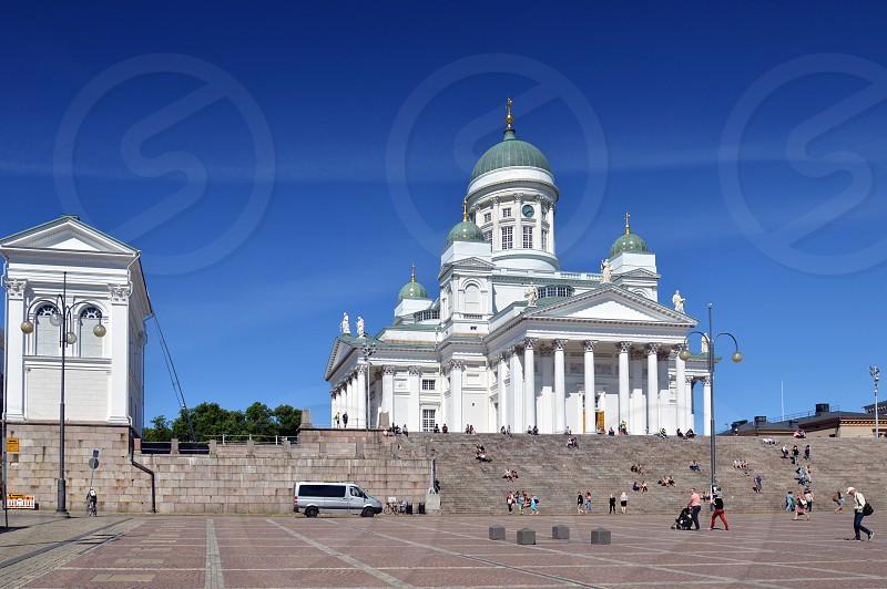 Helsinki Cathedral religious landmark in the city of Helsinki Finland photo