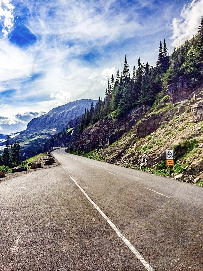 Mountain road photo