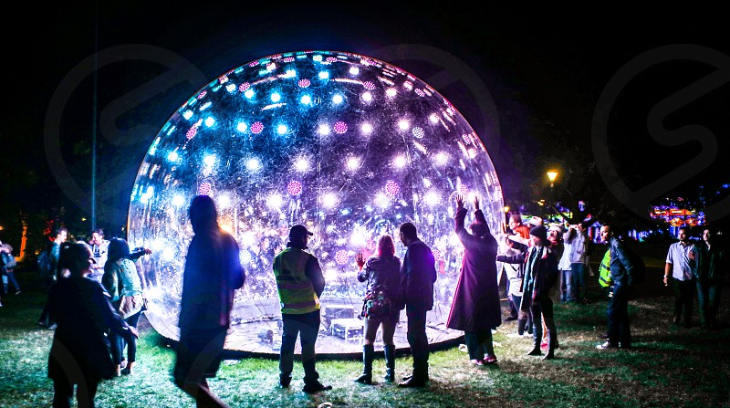 Sonic Light Bubble 2017 Melbourne White Night Festival photo