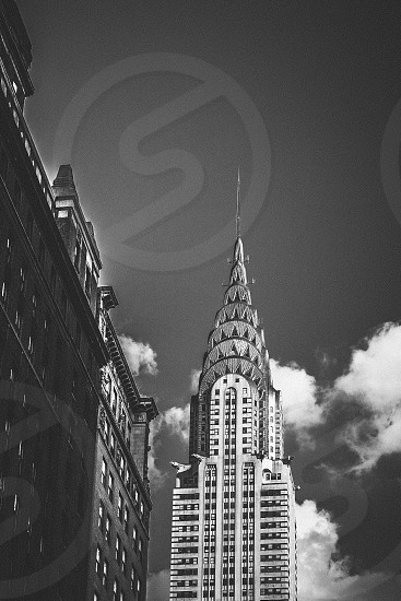 Black and White Chrysler Building in New York photo