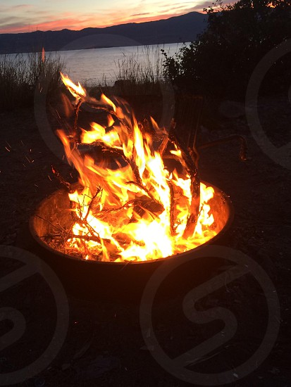 Story time with friends around round fire that warmed our hearths... photo