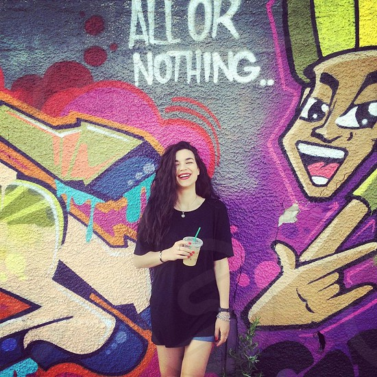 """""""All or nothing"""" - smile even when you feel down and never give up!  photo"""