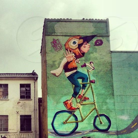 Bogotá street art (artist: BLN Bike) photo