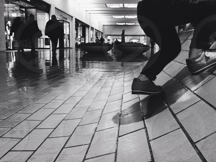 white tiled floor photo