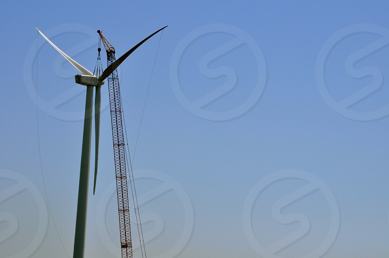 Wind Turbine Under Construction photo