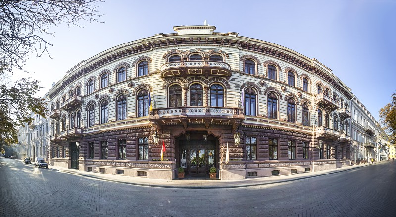 Odessa Ukraine - 09.11.2018. Luxury hotel Londonskaya in the historic center of the Odessa city. photo