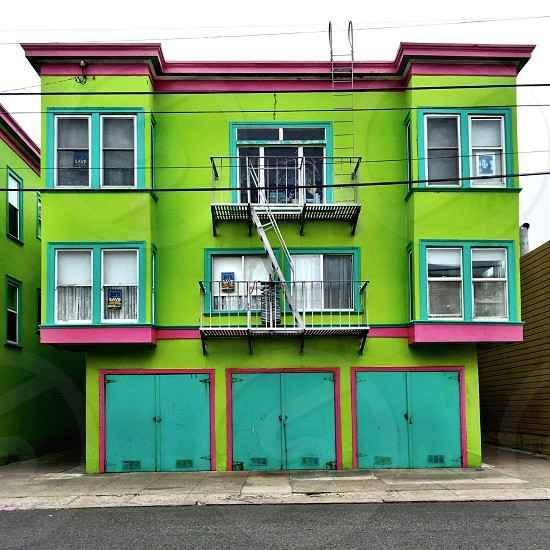 Colorful apartment building  photo