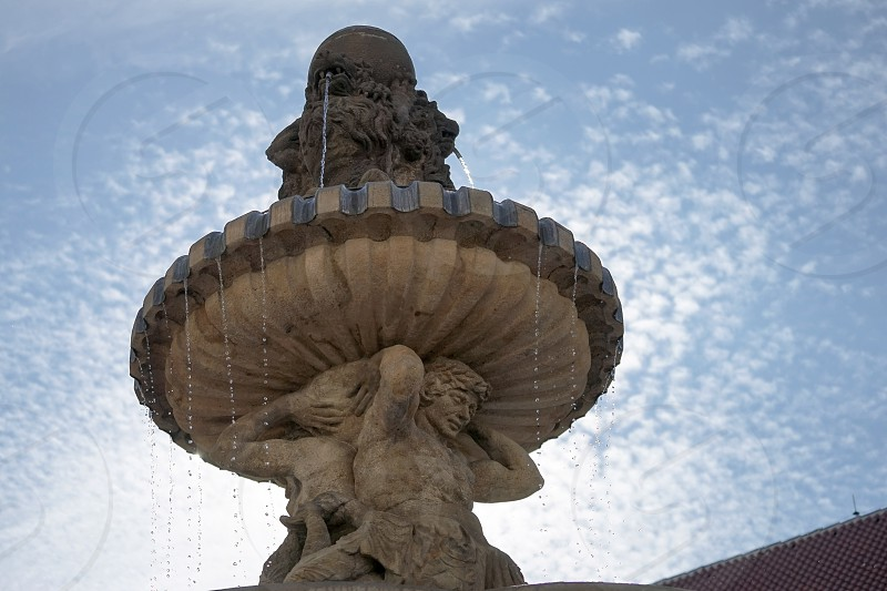 Partial View of Kohls Fountain in the Castle Area of Prague photo