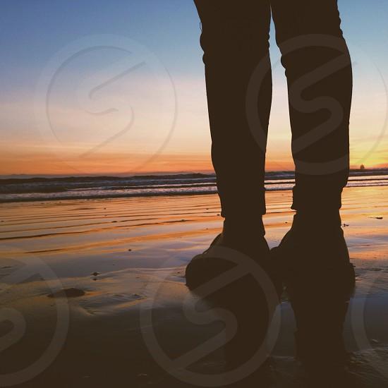 human legs silhouette photo