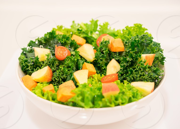 Kale with diced apple and sweet potato. Enjoy! photo
