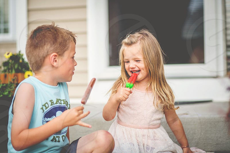 National Best Friends Day no better best friend than your brother or sister summer popsicles boy and girl child children photo