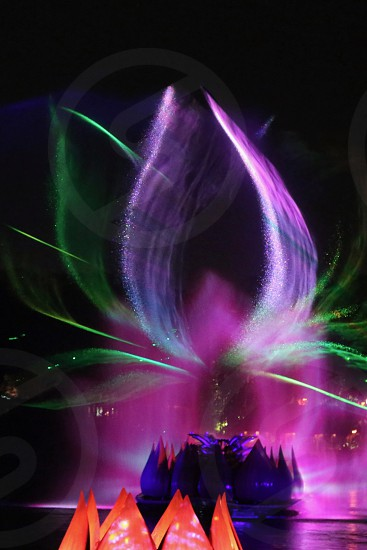 Lasers projection water display show photo