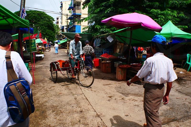 Street food and drink Myanmar photo