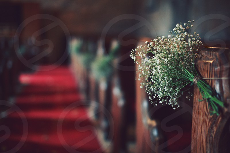 church flowers wedding  photo