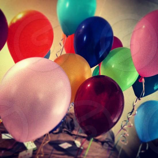 multicolored balloons photo
