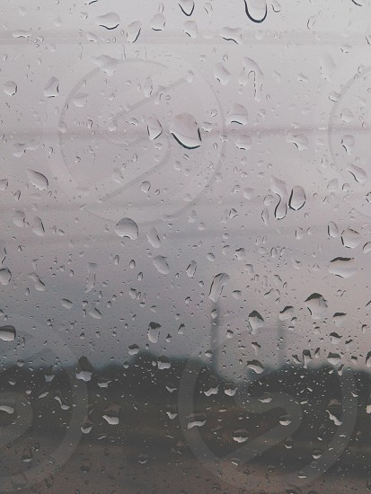 foggy glass with teardrop photo