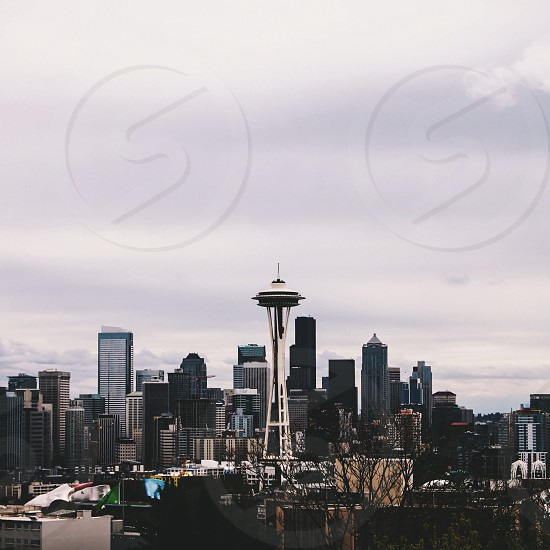 seattle cityscape photo photo