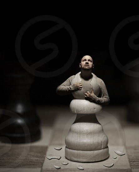 Chess Pawn Reality augmented   photo