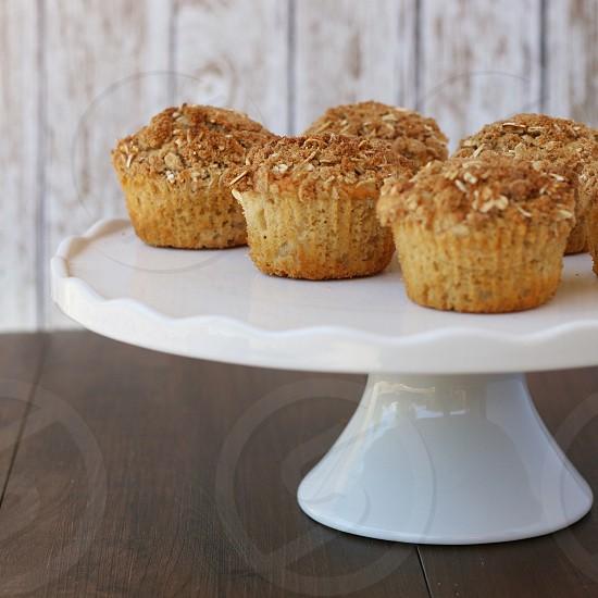 Muffins food oatmeal carbs cake stand photo