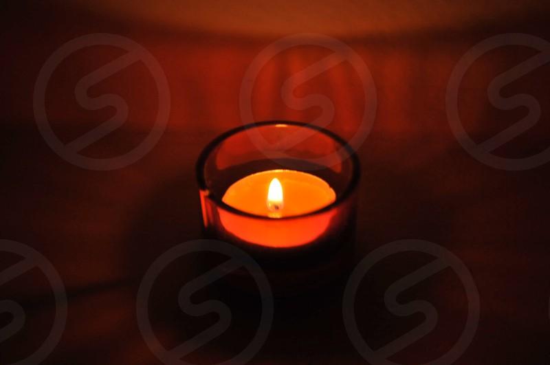Orange glow candle photo