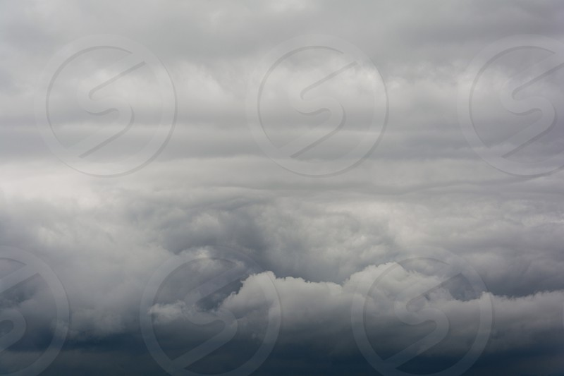 Dark storm clouds before rain photo