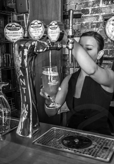 Beer at a bar photo