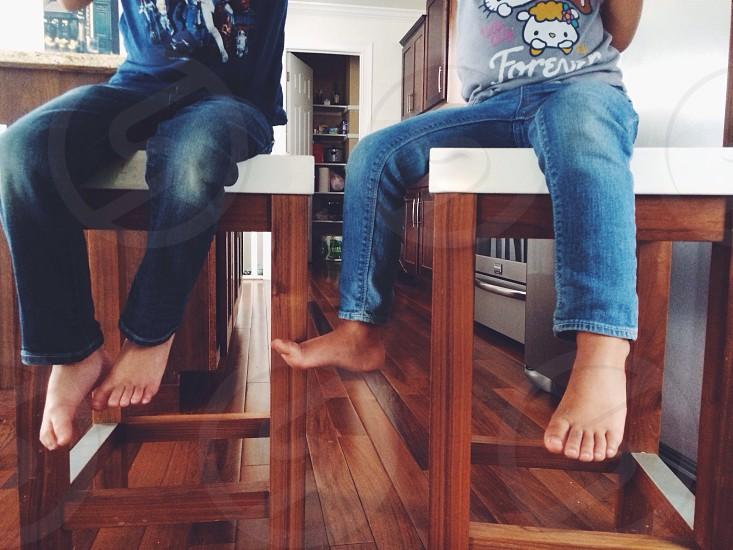 child's blue jeans photo