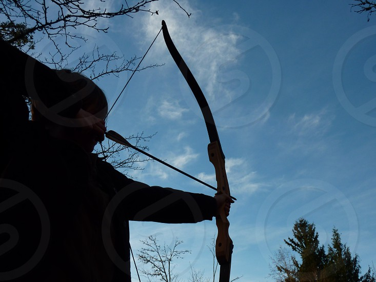 archer silhouette photo