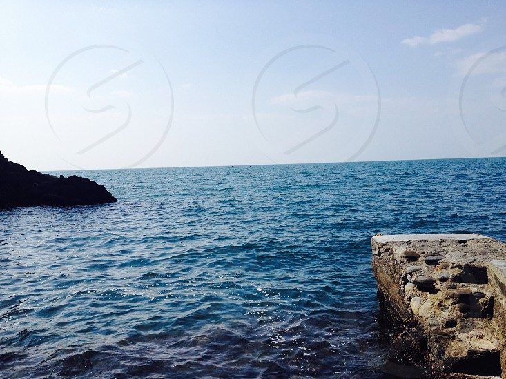 The Mediterranean from Italy along the Cinque Terre hike photo