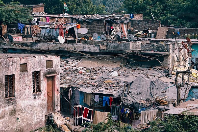 Living conditions in Delhi. photo