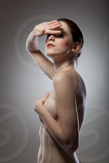 Portrait of beautiful naked woman photo
