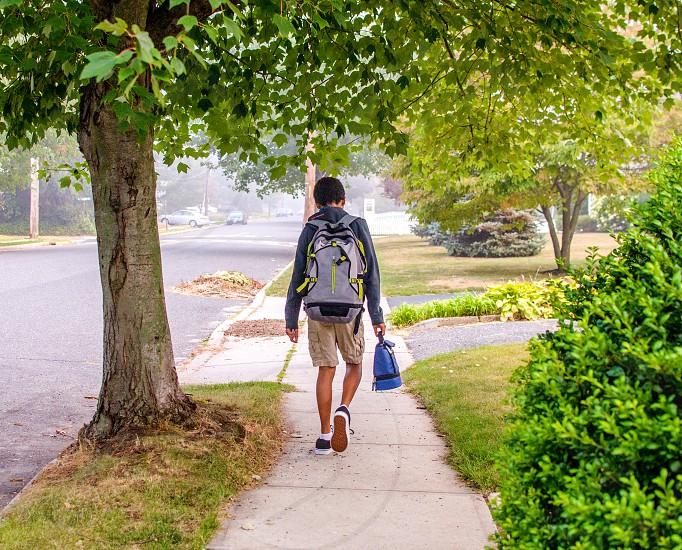 First day of school walk photo