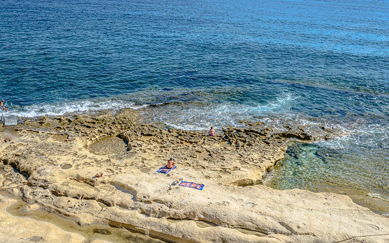 Sliema beach photo