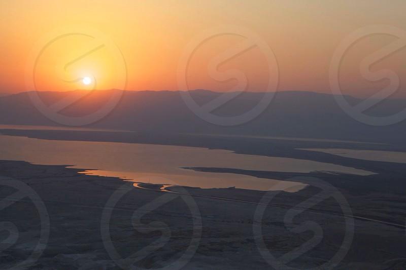 Sunrise in Israel. photo