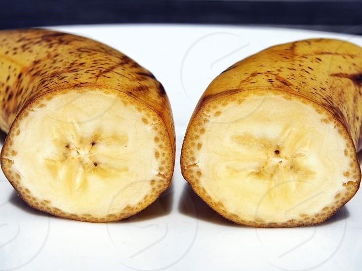 halved banana photo
