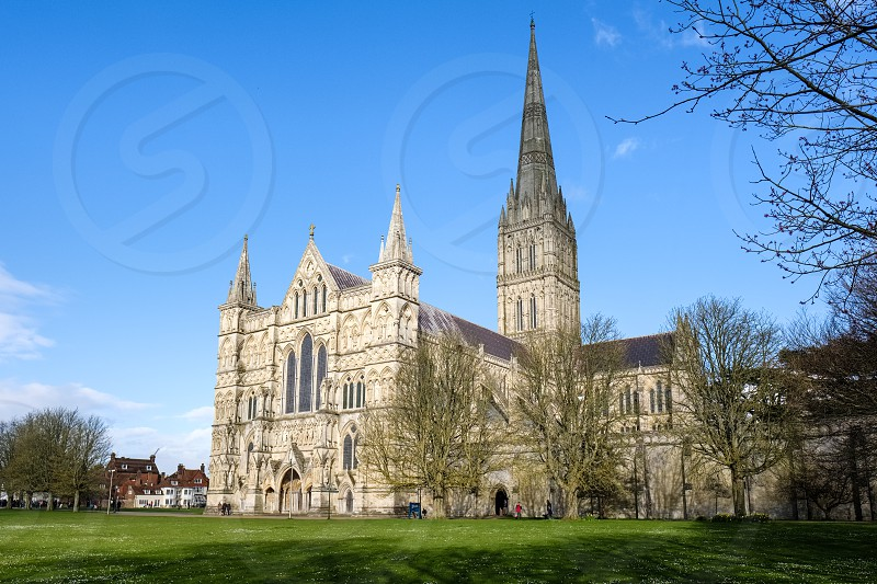 Exterior View of Salisbury Cathedral photo