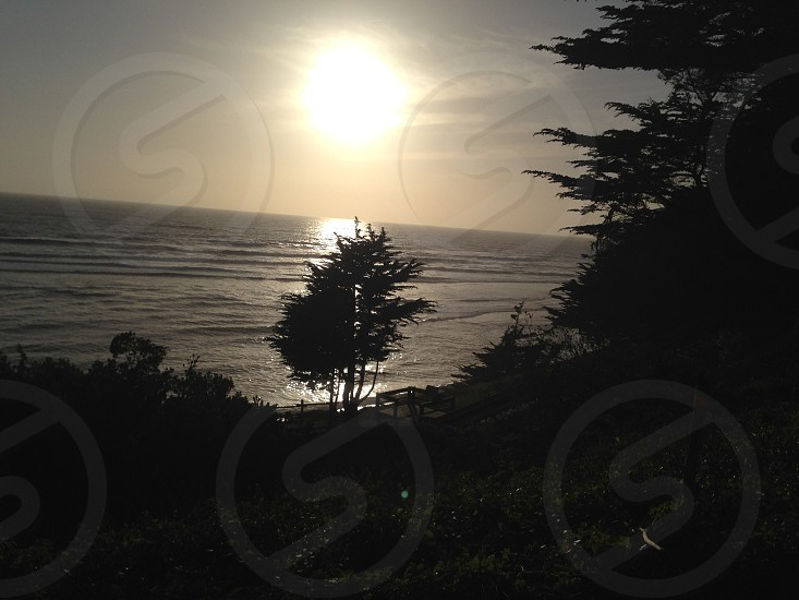 Sunset at Half Moon Bay photo