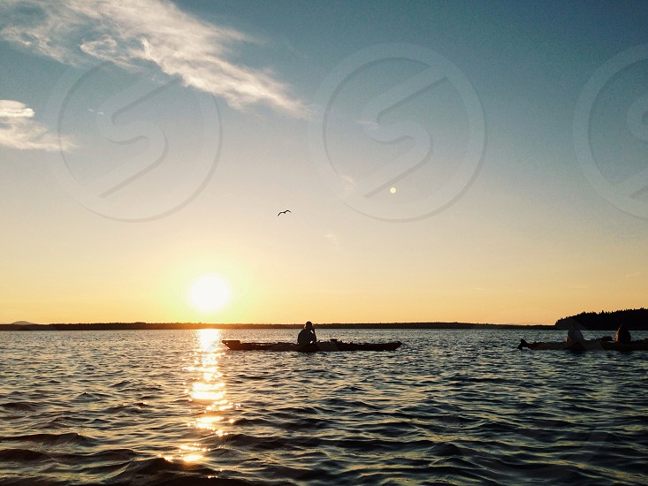 kayaking on the lake photo