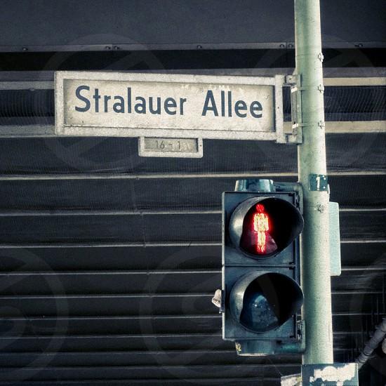 stralauer allee street sign photo