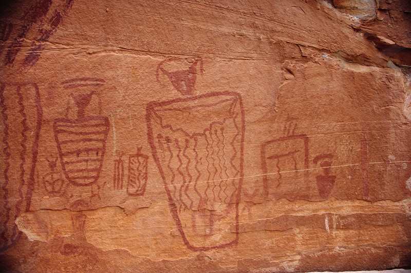 rock art puebloan barrier utah canyon Anthromorph native american anasazi canyon lands national park photo
