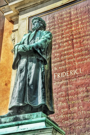 Statue of Birger Jarl in the Old Town of StockholmSweden photo