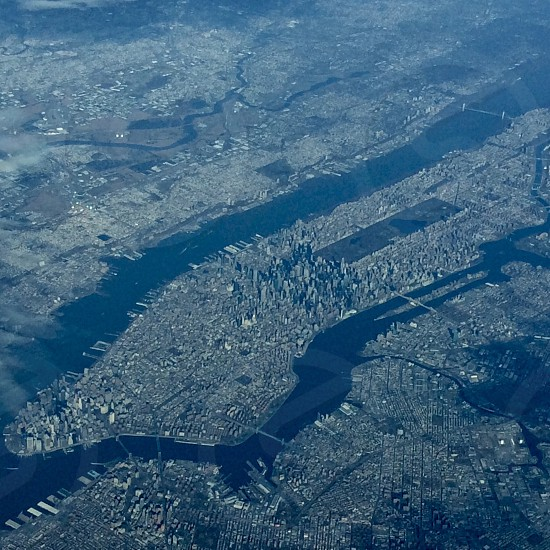 NY from 34000 feet photo