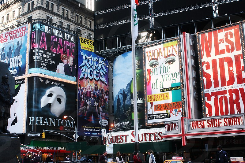 Broadway signs New York City photo