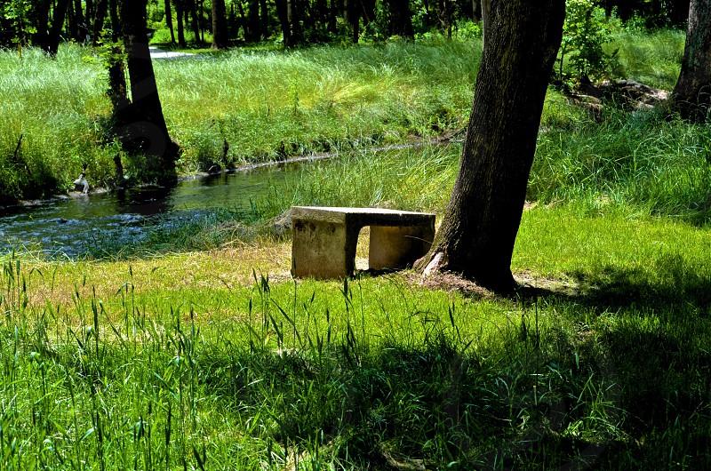 concrete bench photo